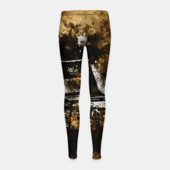 Thumbnail image of gxp chair at lost place splatter watercolor Girl's leggings, Live Heroes