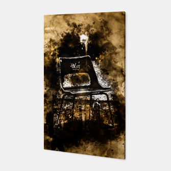 Thumbnail image of gxp chair at lost place splatter watercolor Canvas, Live Heroes
