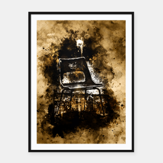 Thumbnail image of gxp chair at lost place splatter watercolor Framed poster, Live Heroes