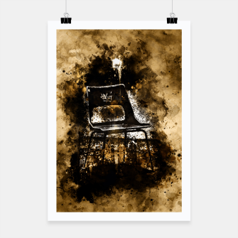 Thumbnail image of gxp chair at lost place splatter watercolor Poster, Live Heroes