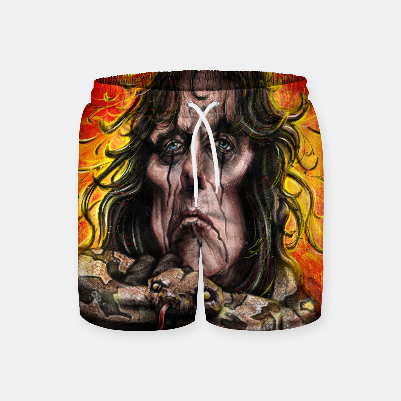 Image of Alice Cooper Swim Shorts - Live Heroes