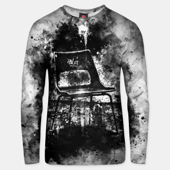Thumbnail image of gxp chair at lost place splatter watercolor black white Unisex sweater, Live Heroes