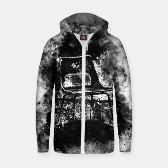 Thumbnail image of gxp chair at lost place splatter watercolor black white Zip up hoodie, Live Heroes