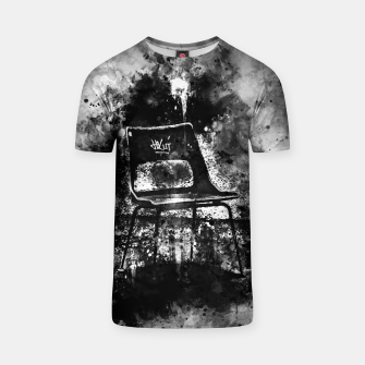 Thumbnail image of gxp chair at lost place splatter watercolor black white T-shirt, Live Heroes