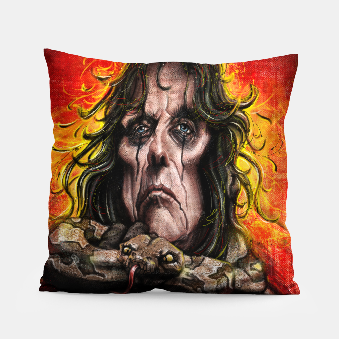 Image of Alice Cooper Pillow - Live Heroes