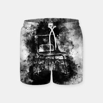 Thumbnail image of gxp chair at lost place splatter watercolor black white Swim Shorts, Live Heroes