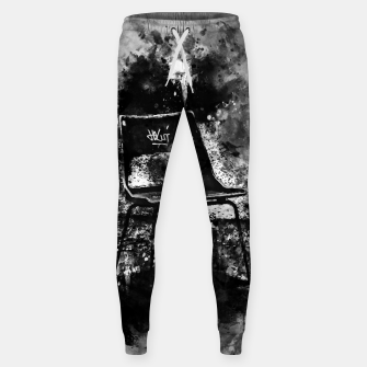 Thumbnail image of gxp chair at lost place splatter watercolor black white Sweatpants, Live Heroes