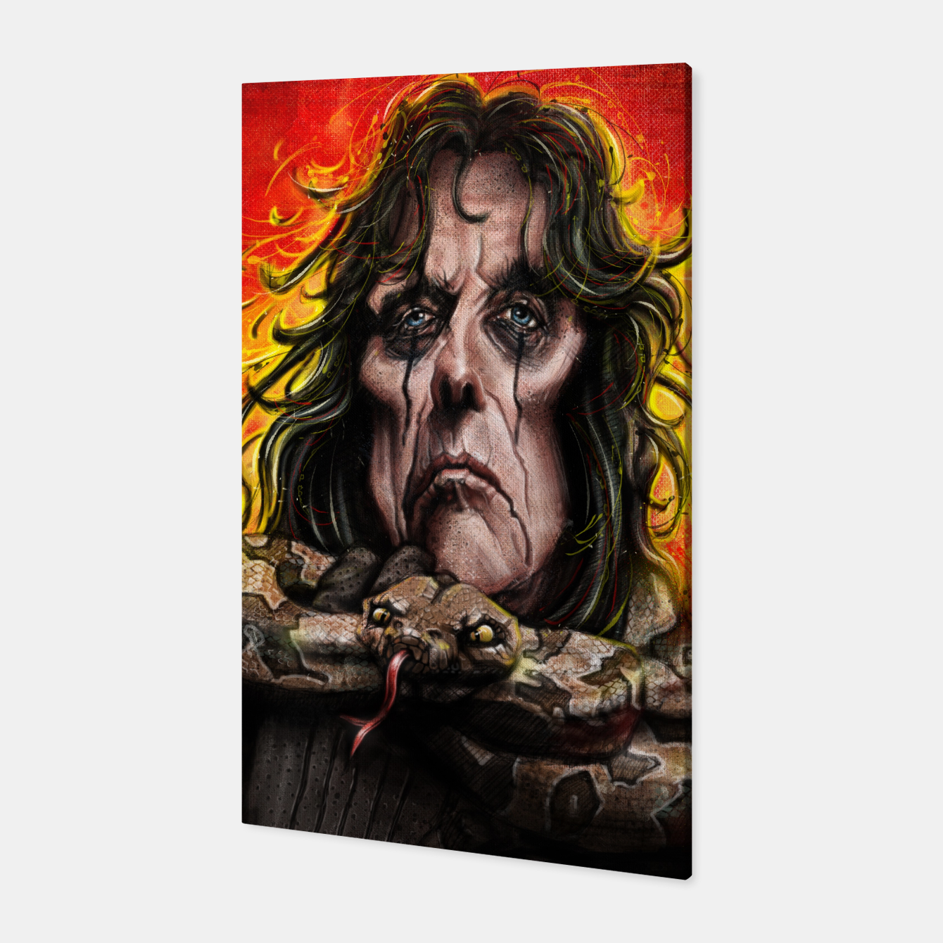 Image of Alice Cooper Canvas - Live Heroes