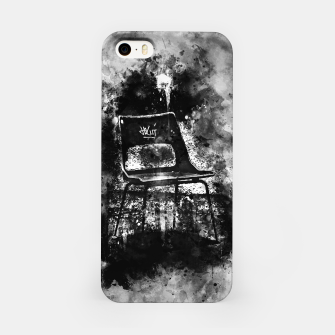 Thumbnail image of gxp chair at lost place splatter watercolor black white iPhone Case, Live Heroes