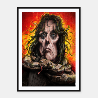 Thumbnail image of Alice Cooper Framed poster, Live Heroes