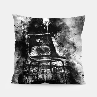 Thumbnail image of gxp chair at lost place splatter watercolor black white Pillow, Live Heroes