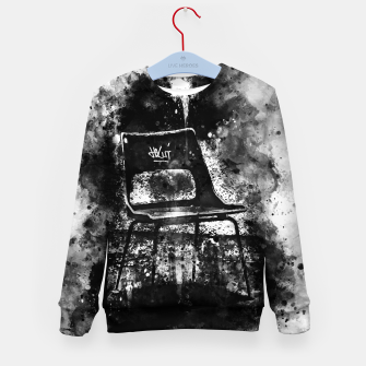 Thumbnail image of gxp chair at lost place splatter watercolor black white Kid's sweater, Live Heroes