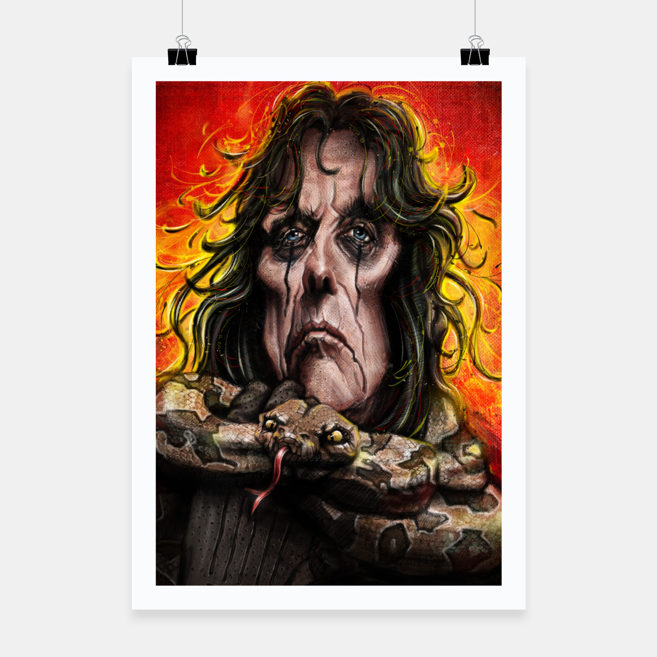 Image of Alice Cooper Poster - Live Heroes