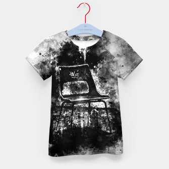 Thumbnail image of gxp chair at lost place splatter watercolor black white Kid's t-shirt, Live Heroes