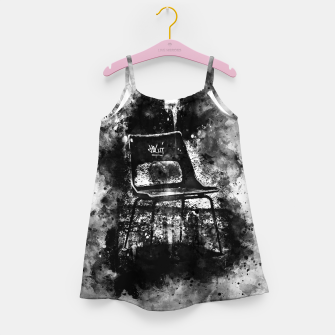 Thumbnail image of gxp chair at lost place splatter watercolor black white Girl's dress, Live Heroes