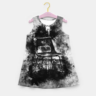 Thumbnail image of gxp chair at lost place splatter watercolor black white Girl's summer dress, Live Heroes