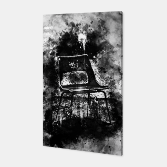 Thumbnail image of gxp chair at lost place splatter watercolor black white Canvas, Live Heroes