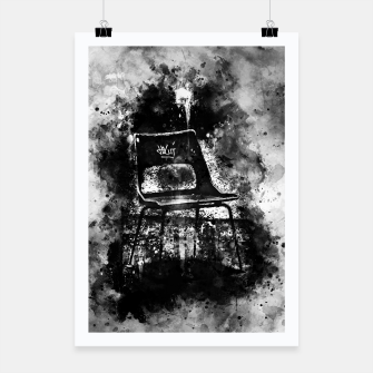 Thumbnail image of gxp chair at lost place splatter watercolor black white Poster, Live Heroes
