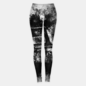 Thumbnail image of gxp chair at lost place splatter watercolor black white Leggings, Live Heroes