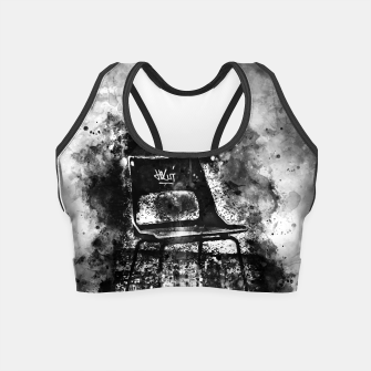 Thumbnail image of gxp chair at lost place splatter watercolor black white Crop Top, Live Heroes