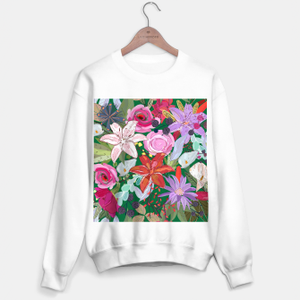Thumbnail image of Lily and Colorful Pretty Flowers  Sweater regular, Live Heroes