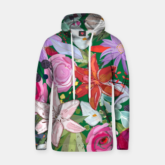 Thumbnail image of Lily and colorful pretty flowers  Hoodie, Live Heroes
