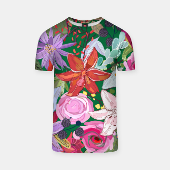 Thumbnail image of Lily and colorful pretty flowers  T-shirt, Live Heroes