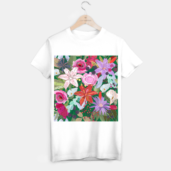 Thumbnail image of Lily and colorful pretty flowers  T-shirt regular, Live Heroes