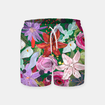 Thumbnail image of Lily and colorful pretty flowers  Swim Shorts, Live Heroes