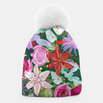 Thumbnail image of Lily and Colorful Pretty Flowers  Beanie, Live Heroes