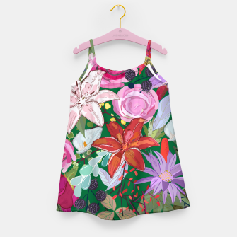 Thumbnail image of Lily and colorful pretty flowers  Girl's dress, Live Heroes