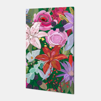 Thumbnail image of Lily and colorful pretty flowers  Canvas, Live Heroes