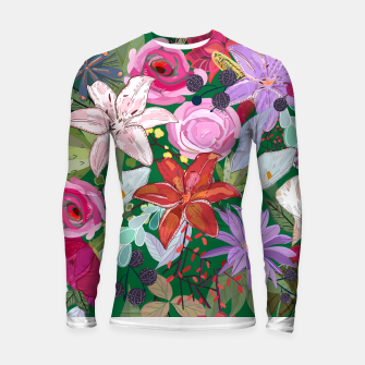 Thumbnail image of Lily and colorful pretty flowers  Longsleeve rashguard , Live Heroes