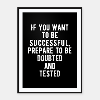 Thumbnail image of Inspirational - Be Prepared Framed poster, Live Heroes