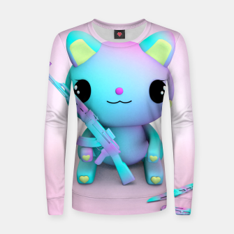 Thumbnail image of Pastel Kitty Women sweater, Live Heroes