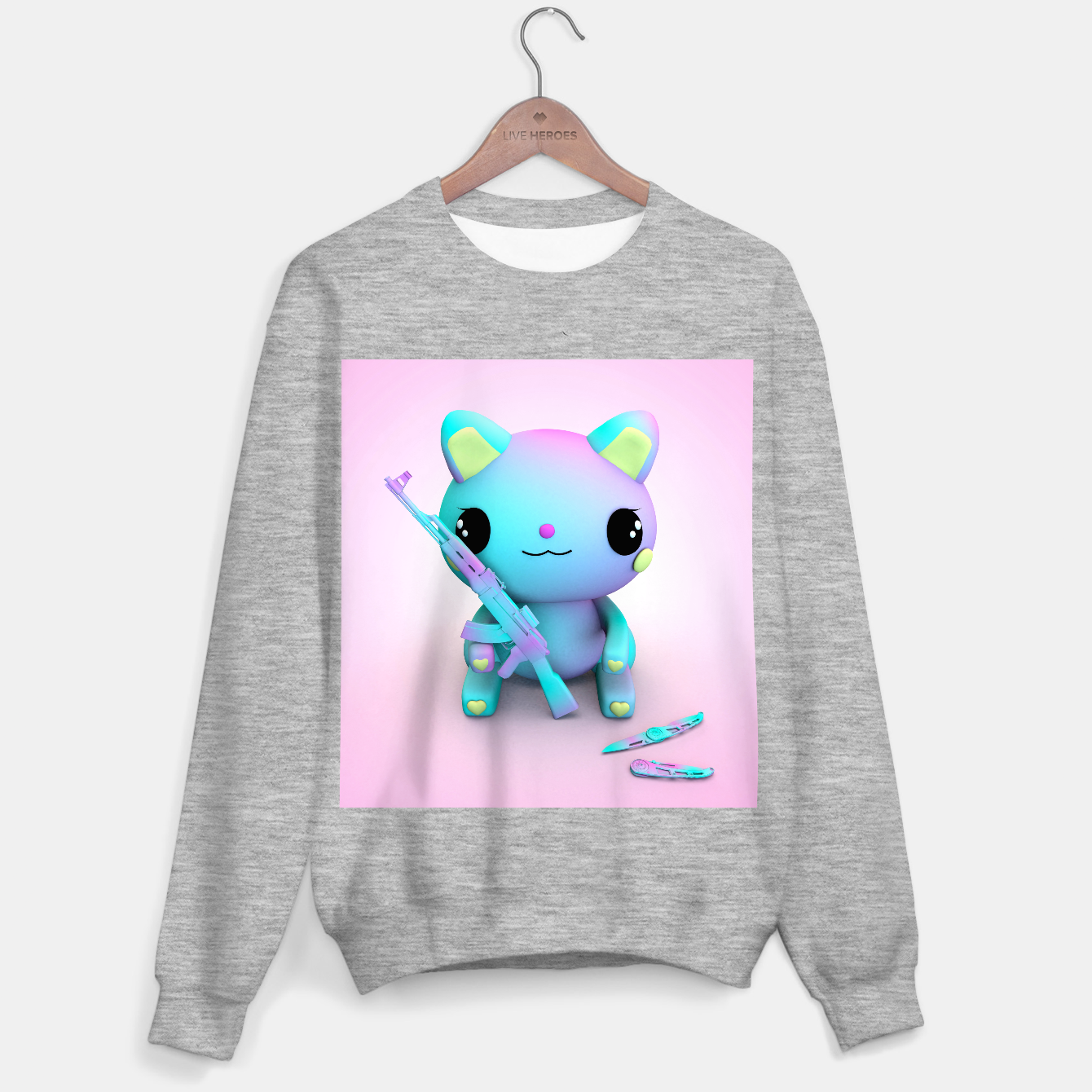 Image of Pastel Kitty Sweater regular - Live Heroes