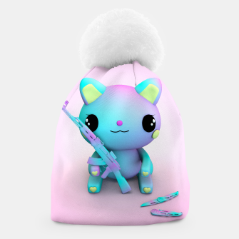 Thumbnail image of Pastel Kitty Beanie, Live Heroes