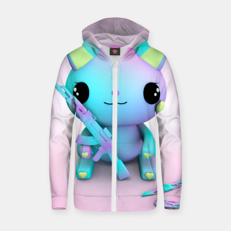 Thumbnail image of Pastel Kitty Zip up hoodie, Live Heroes