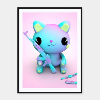 Thumbnail image of Pastel Kitty Framed poster, Live Heroes