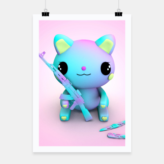 Thumbnail image of Pastel Kitty Poster, Live Heroes