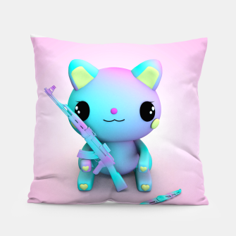 Thumbnail image of Pastel Kitty Pillow, Live Heroes