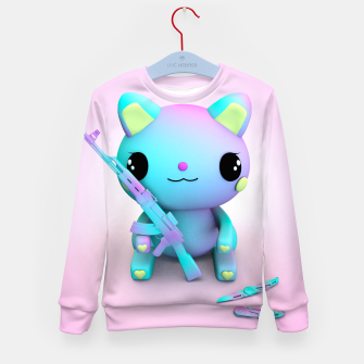 Thumbnail image of Pastel Kitty Kid's sweater, Live Heroes