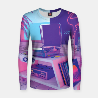 Thumbnail image of spinningwave Women sweater, Live Heroes