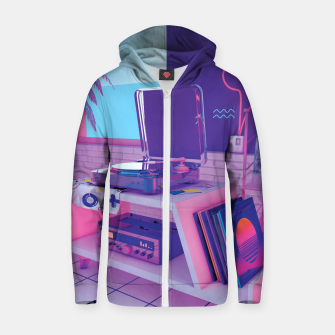 Thumbnail image of spinningwave Zip up hoodie, Live Heroes