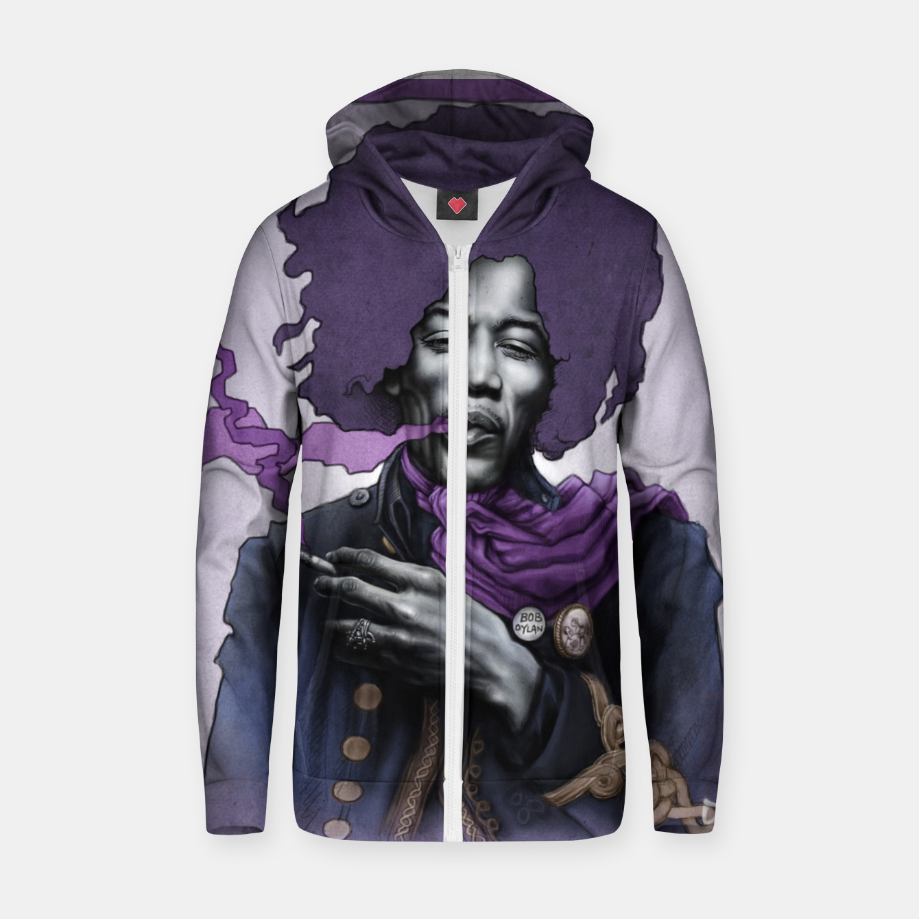 Image of Jimi Hendrix Zip up hoodie - Live Heroes