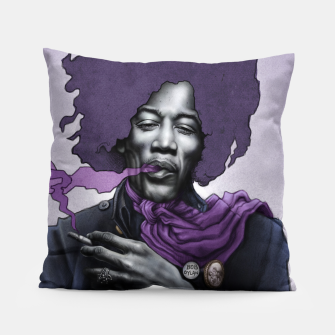 Thumbnail image of Jimi Hendrix Pillow, Live Heroes