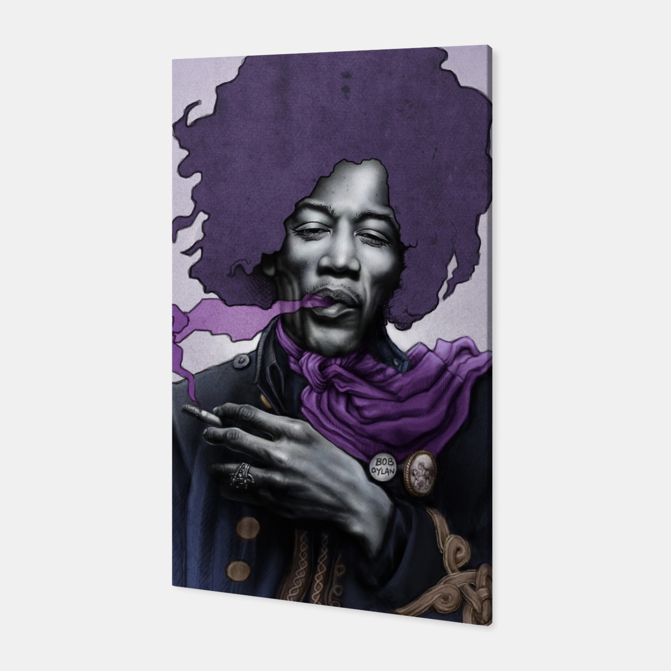 Image of Jimi Hendrix Canvas - Live Heroes