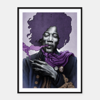 Thumbnail image of Jimi Hendrix Framed poster, Live Heroes