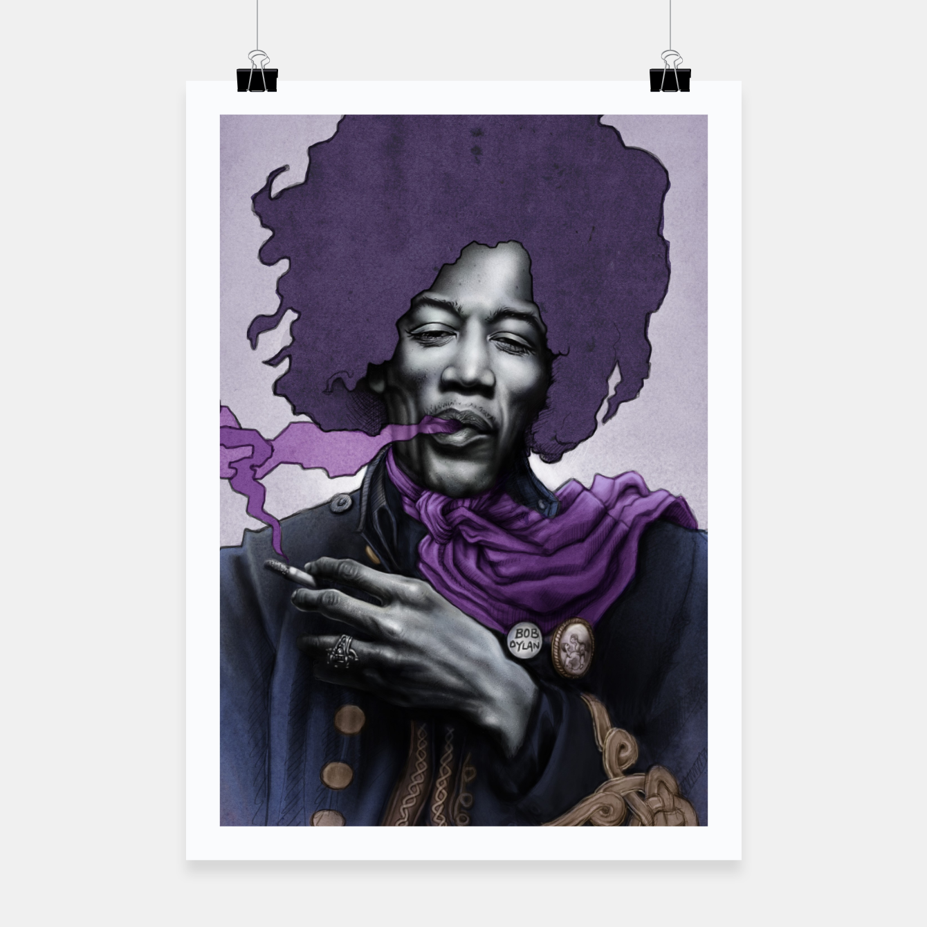 Image of Jimi Hendrix Poster - Live Heroes