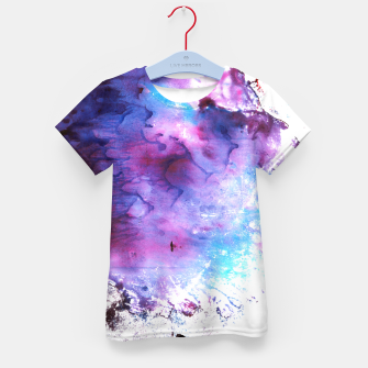 Imagen en miniatura de Purple and Blue abstract Camiseta para niños, Live Heroes